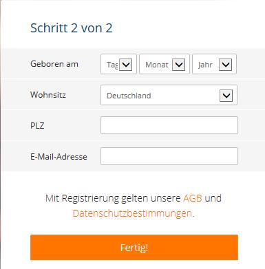 FriendScout24 Anmeldung - Anmeldung bei FriendScout24: FriendScout24 Registrierung in 2 Schritten - Schritt 2