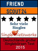 FriendScout24.de - Testsiegel 2015 - Sehr viele Singles - Single-Netzwerke