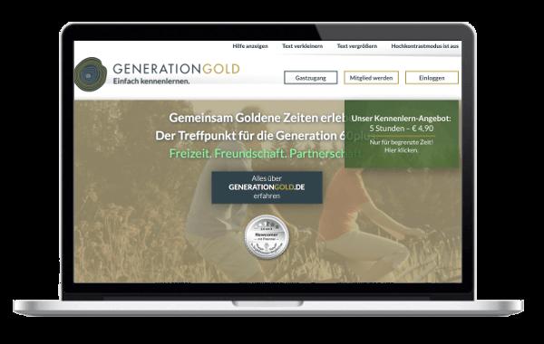 GenerationGold.de - Freundschaft, Partnersuche und Freizeitpartner finden, für Menschen ab 60!