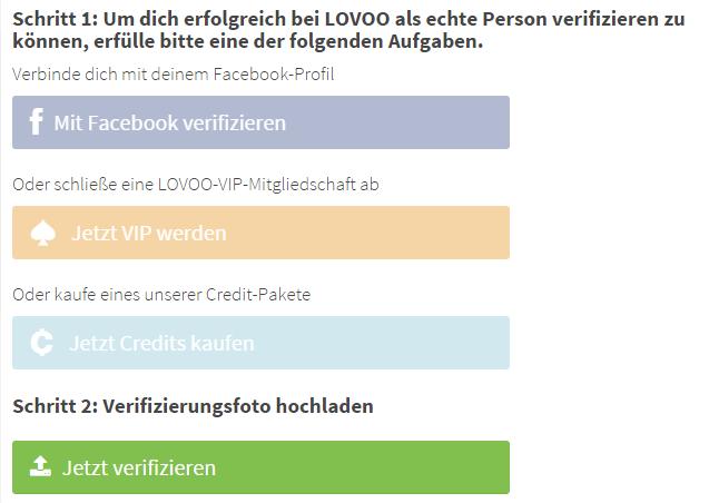 Wie kann ich bei LOVOO mein Profil verifizieren?