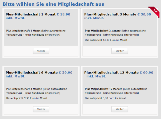 Unfreiwillige Premium-Mitgliedschaft bei FriendScout24.de