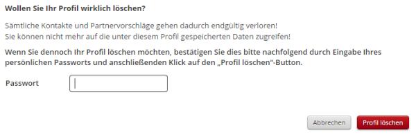 click and date profil löschen