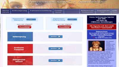 AnneWeb.de - Anne's Seitensprung Agentur - Casual Dating - Fremdgehen im Internet