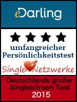 edarling.de - Testsiegel 2015 - umfangreicher Persoenlichkeitstest - Single-Netzwerke