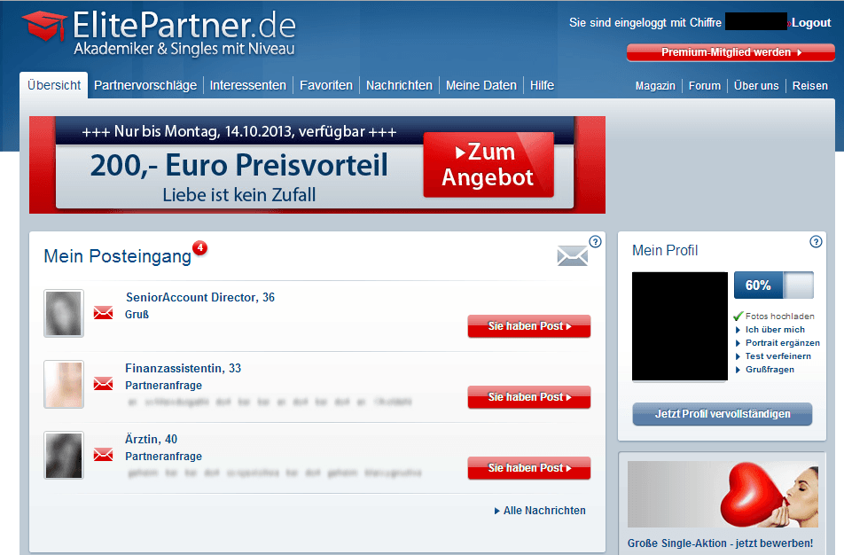 elite partner.de login Bruchsal